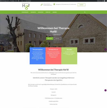 Webseite Therapie...Hof 8